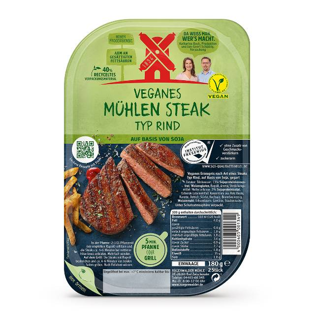 Veganes Mühlen Steak